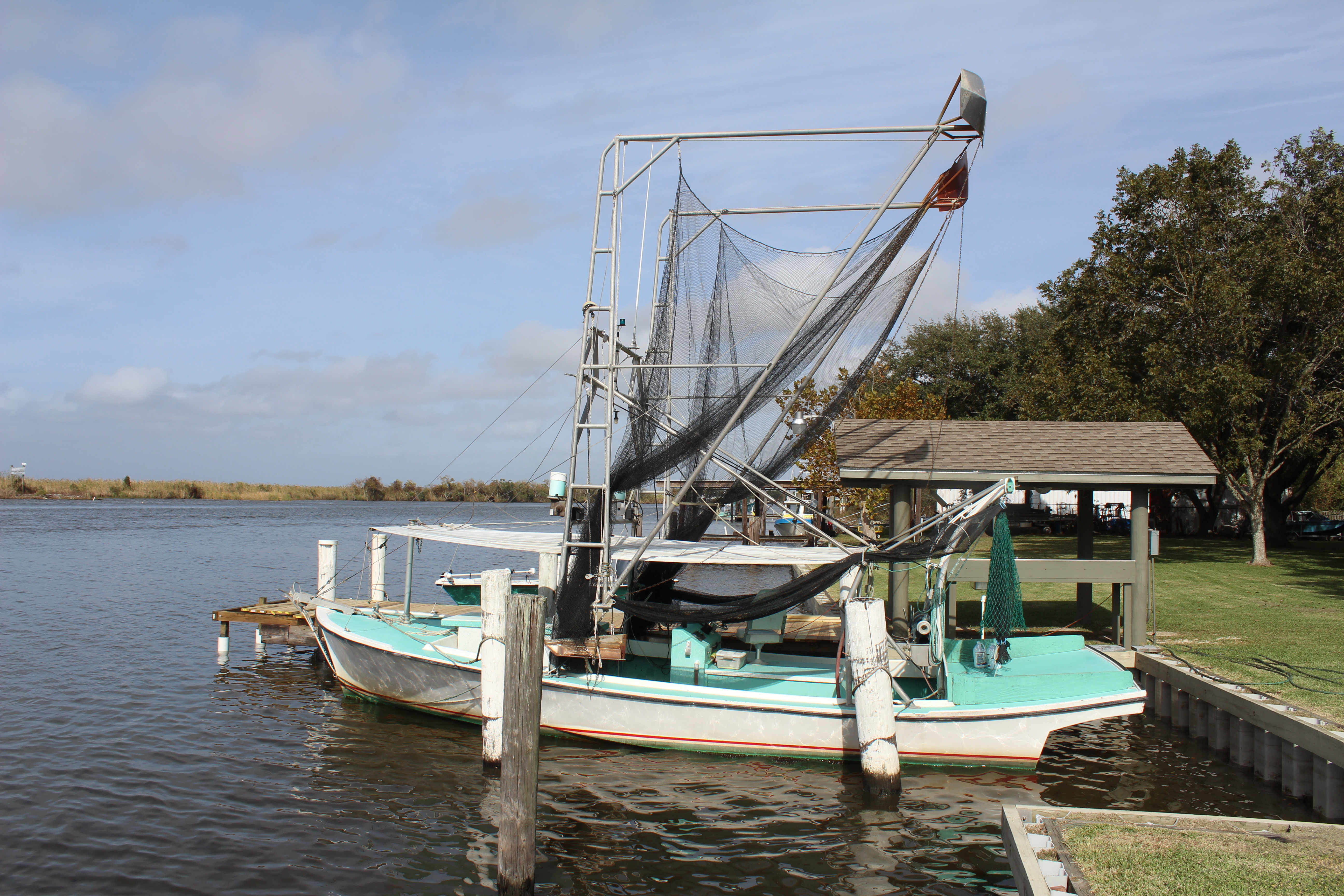 The shrimp boat is called a Lafitte Skiff.