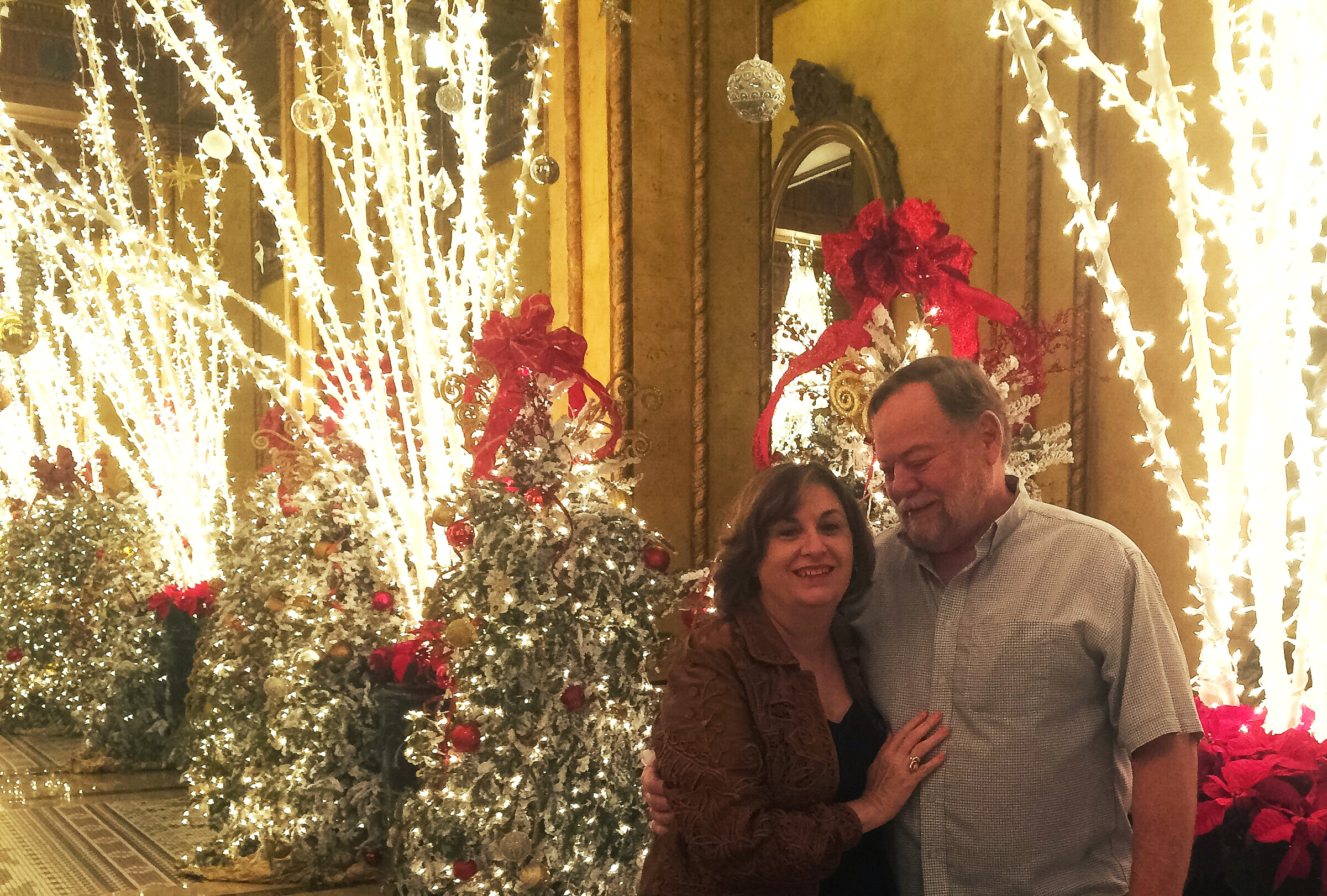 My Christmas present was spending Christmas night at the Roosevelt.